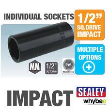 "NEW! SEALEY WallDrive 1/2"" SQ SQUARE DRIVE IMPACT SOCKET STANDARD & DEEP"