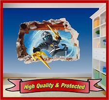Lego Ninjago Zane Wall Art Hole Printed Vinyl Sticker Decal Childrens Bedroom