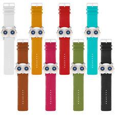 Armbanduhr für Damen Dual Schmuck Uhr Eule mit Kristallen besetzt 2 Zeitzohnen