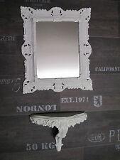 Miroir mural + Console SET Baroque antique BLANC 44x38 de sale bain 1