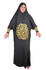 Isdal Abaya Kaftan Islamische Kleidung Gebetskleidung mit arabischer Kalligrafie