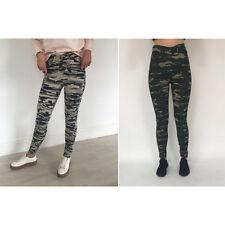 Ladies DELLE DONNE Esercito Mimetica Jeans Skinny Fit Elasticizzato Jeggings Pantaloni 8-16