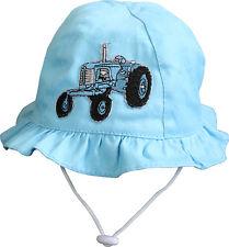 (60754) baby- Sombrero de verano sol con lindo Tractor Bordado 6-12 M