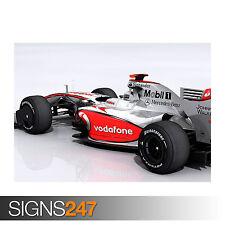 Mercedes McLaren F1 Race Car (0812) cartel de auto-arte cartel impresión A1 A2 A3 A4