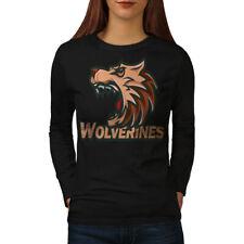 Wolverine Beast Animal Women Long Sleeve T-shirt NEW | Wellcoda