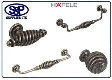 HAFELE BRAND TWISTER DRAWER HANDLES / KNOBS / CABINET HANDLES PEWTER FINISH