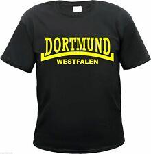 DORTMUND Westfalen T-Shirt LINIE - schwarz / gelb - Größe S bis 3XL - fans & co