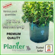 75 litre WOVEN Planter Bags - varying quantities. Plant bags Landscape Grow bag