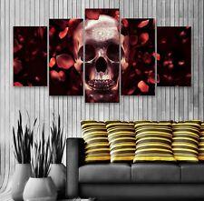 TESCHIO e Rose Rosse 5 pannello tela, 5 PEZZI Wall Art, Multi Pannello Canvas #175