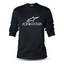 Genuine Official Alpinestars Racing Extreme Bike Black Long Sleeve Tee T-Shirt