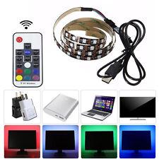 DC 5V USB LED Strip 5050 RGB Adhesive Tape with 17Key RF Controller 50cm-4m Set