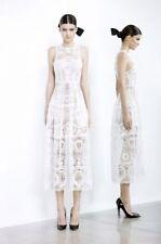 [ ALEX PERRY ] madelina bib folk lace white dress [ size: 6 ] $1800 NEW!