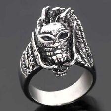 Acero inoxidable-Ring, dragón-cabeza, Dragon, Fantasy, Alien