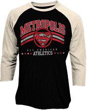 c54f7f25e Official Superman Metropolis Athlethics Logo Baseball Shirt New DC Comics
