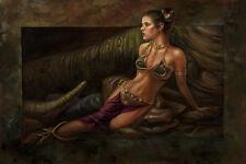 Return of the Jedi Slave Leia Jabba The Hutt Star Wars Fine Art Giclée on Canvas
