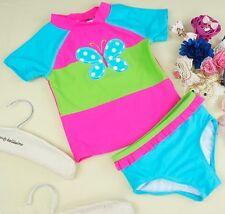 New 2PC Girls Tankini Set Bathers Rash Swimwear Size 3M-6Y