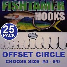 Offset Circle Hooks FISH TAMER Pro Pack - Super Sharp - Sizes #4 - 9/0 (25pk)