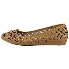 Giani Bernini Womens Odeysa2 Leather Round Toe Slide Flats