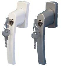 Fenstergriff Fenster abschließbar Griff Schlüssel Sicherheit Weiß Silber 35mm