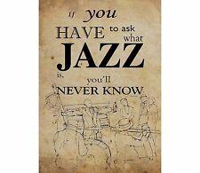 "0314 VINTAGE MUSICA poster arte ""se si deve chiedere qual è JAZZ"" * GRATIS POSTER"