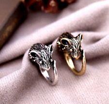 Vintage retro estilo oro antiguo / plata mouse charm tipo anillo