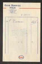 """PARIS (XIII°) STATION ESSENCE ESSO pour AUTOMOBILE """"ESSO SERVICE ITALIE"""" en 1950"""
