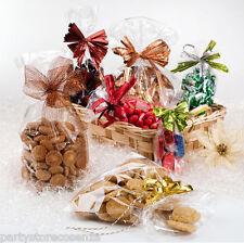100 Sacchetti Bustina Celofan trasparenti per confetti alimentari BUSTE CRYSTAL