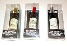 Wine Shape CORKSCREW BEER BOTTLE OPENER FRIDGE MAGNET Novelty HOME BAR Dad Gift