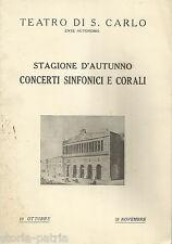 NAPOLI_TEATRO S. CARLO_MUSICA_CONCERTO SINFONICO_CLUYTENS_BERLIOZ_RAVEL_CASELLA