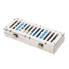 Dental Autoclave Cassette Tray Rack metal Box Instrument Sterilization5/10/20Ins