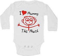 I Love Mamma This Molto - Personalizzati Manica Lunga Bambino Body Body Unisex