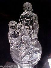 Glass Nativity Figurine Votive Candle Holder Mary, Joseph & Baby Jesus Christmas