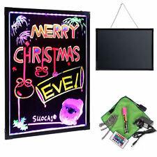 LED Writing Board Flashing Illuminated Erasable Neon LED Message Sign Wt Remote