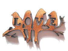 Le forme in legno Love Bird Etichetta da regalo Scheda Craft Fare Scrapbook Abbellimento ART