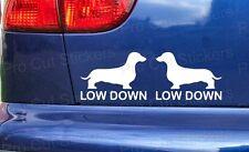 Low Down Dachshund Funny Car Window Bumper Stickers Decals Slammed Lowered