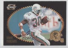 1996 Pinnacle Summit #99 Bernie Parmalee Miami Dolphins Football Card