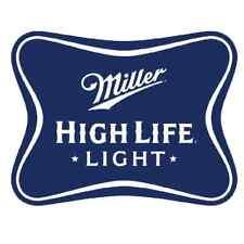 """Miller High Life Light Vinyl Sticker Decal 14""""  full"""