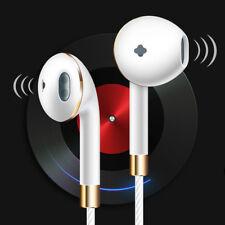 3.5mm With Mic Super Bass Music In-ear Stereo Headphone Headset Earphone White