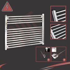 900mm(w) x 600mm(h) Straight Chrome Electric Heated Towel Rail - 300W