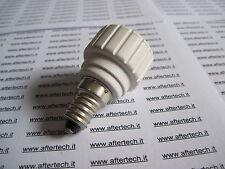 ADATTATORE DA GU10 A E14 LAMPADINE LED E ALOGENE CONVERTITORE RIDUTTORE E2B3