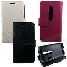 Custodia cover libretto stand eco pelle p Motorola Moto G (3rd gen) case BOOKLET