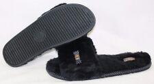 NEW Womens SKECHERS BOBS Primpers Sleepin' In 34098 BLK Black Slippers Shoes