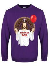 Birthday Boy Christmas Jumper Men's Purple Sweater