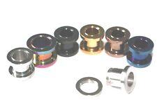 Emeco ® Blackline Blau Braun Gold Rainbow Screw Fit Flesh Tunnel ALI-EAR047