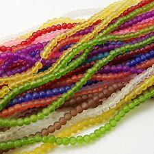 1 filamento perline di vetro glassbeads gioielli perle gefrostet vetro beads Frozen 4mm