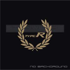 Type R Racing Wreath Decal Sticker logo vtec Civic Integra Accord JDM FK8 Pair