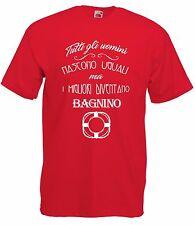 T-Shirt Maglietta J1646 Tutti gli Uomini Nascono Uguali Migliori Bagnino