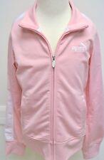 Puma Jacket Girls Pink Coat White Stripes Zip Up Long Sleeves Pockets NWOTS New