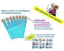 Blue bubble wand birthday party loot bag filler supply elsa Disney Frozen theme