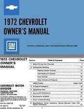 Chevrolet 1972 Owner's Manual